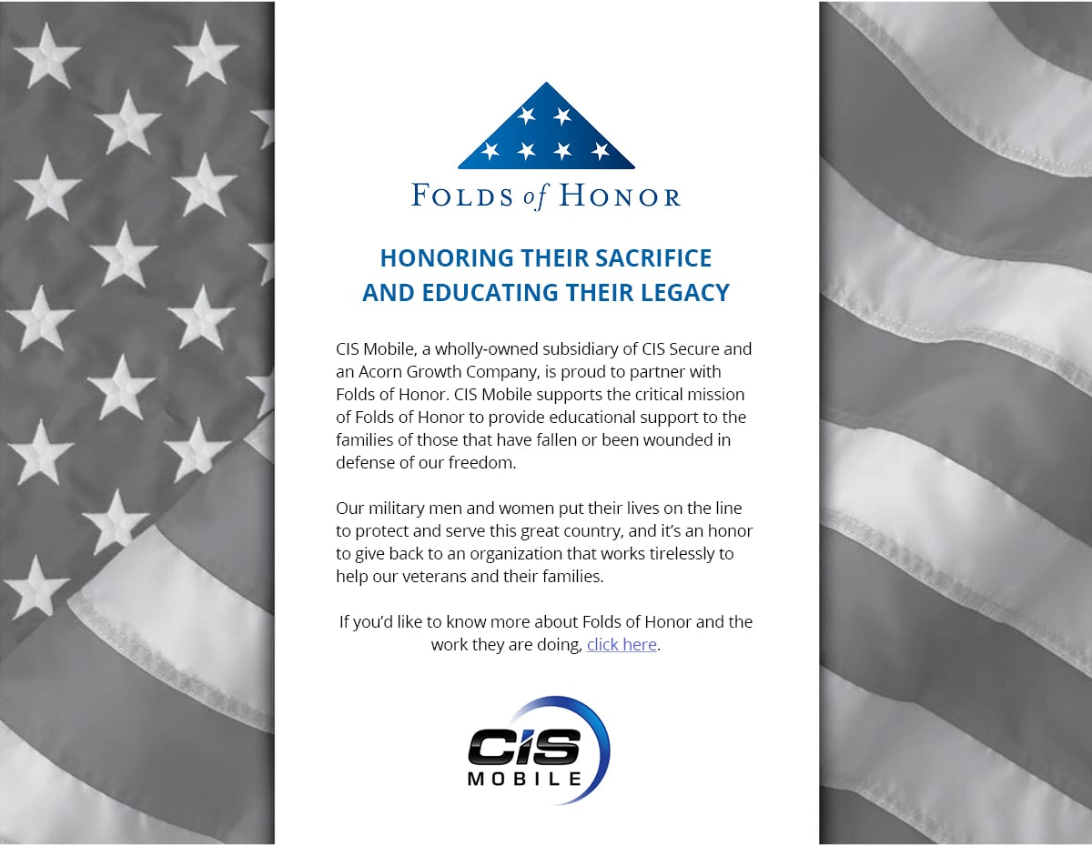 CIS Mobile Corporate Responsibility - Folds of Honor Partnership